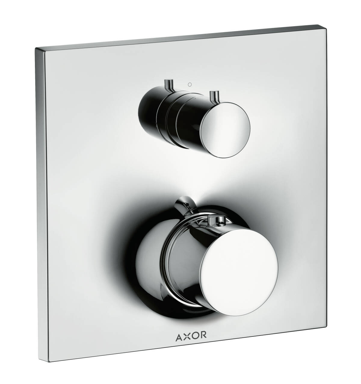 Thermostat for concealed installation with shut-off/ diverter valve, Polished Black Chrome, 18750330