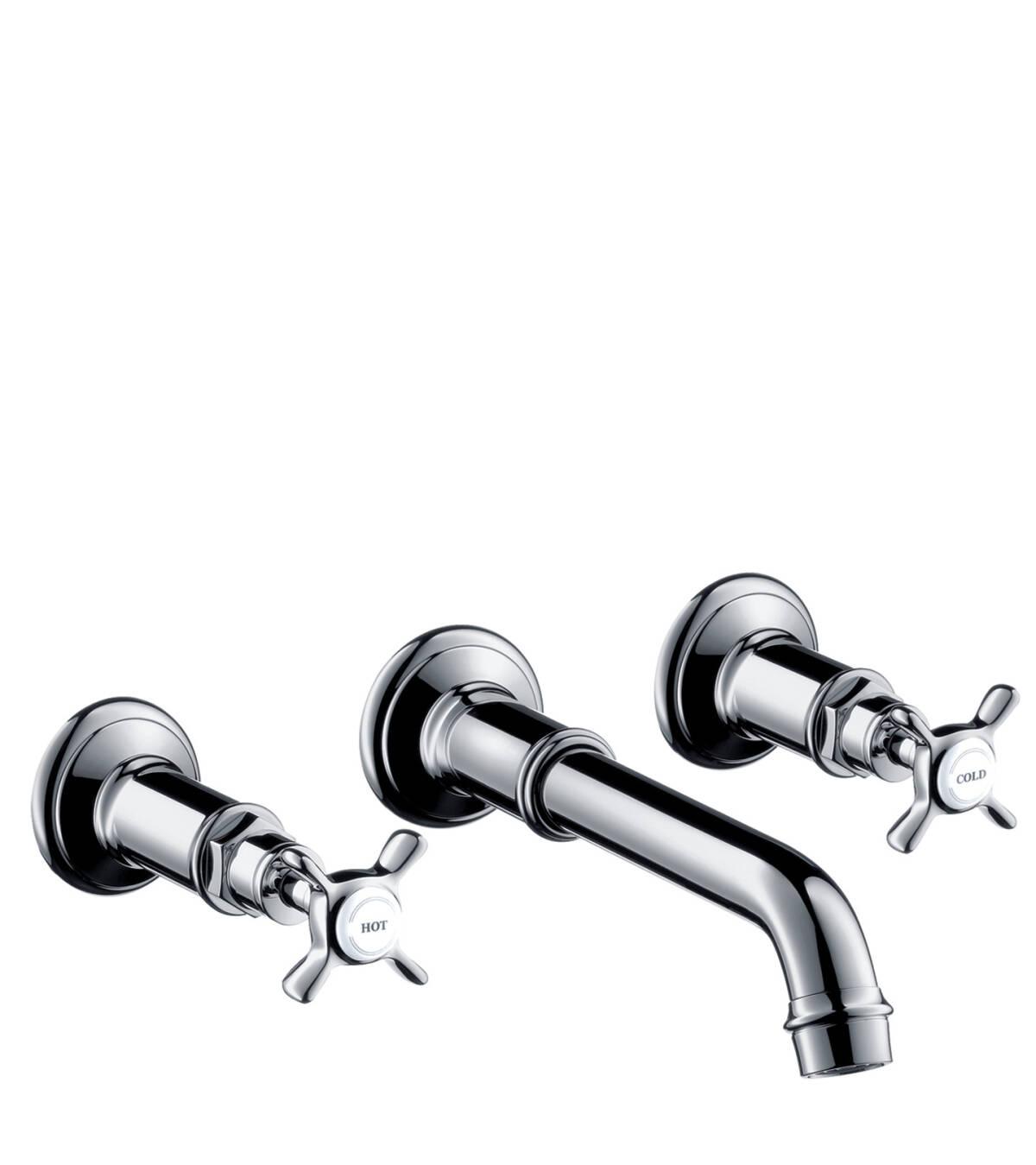 3-Loch Waschtischarmatur Unterputz für Wandmontage, Chrom, 16532000