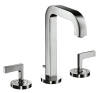 3-hole basin mixer 170 with pop-up waste set and spout 140 mm, lever handles and escutcheons