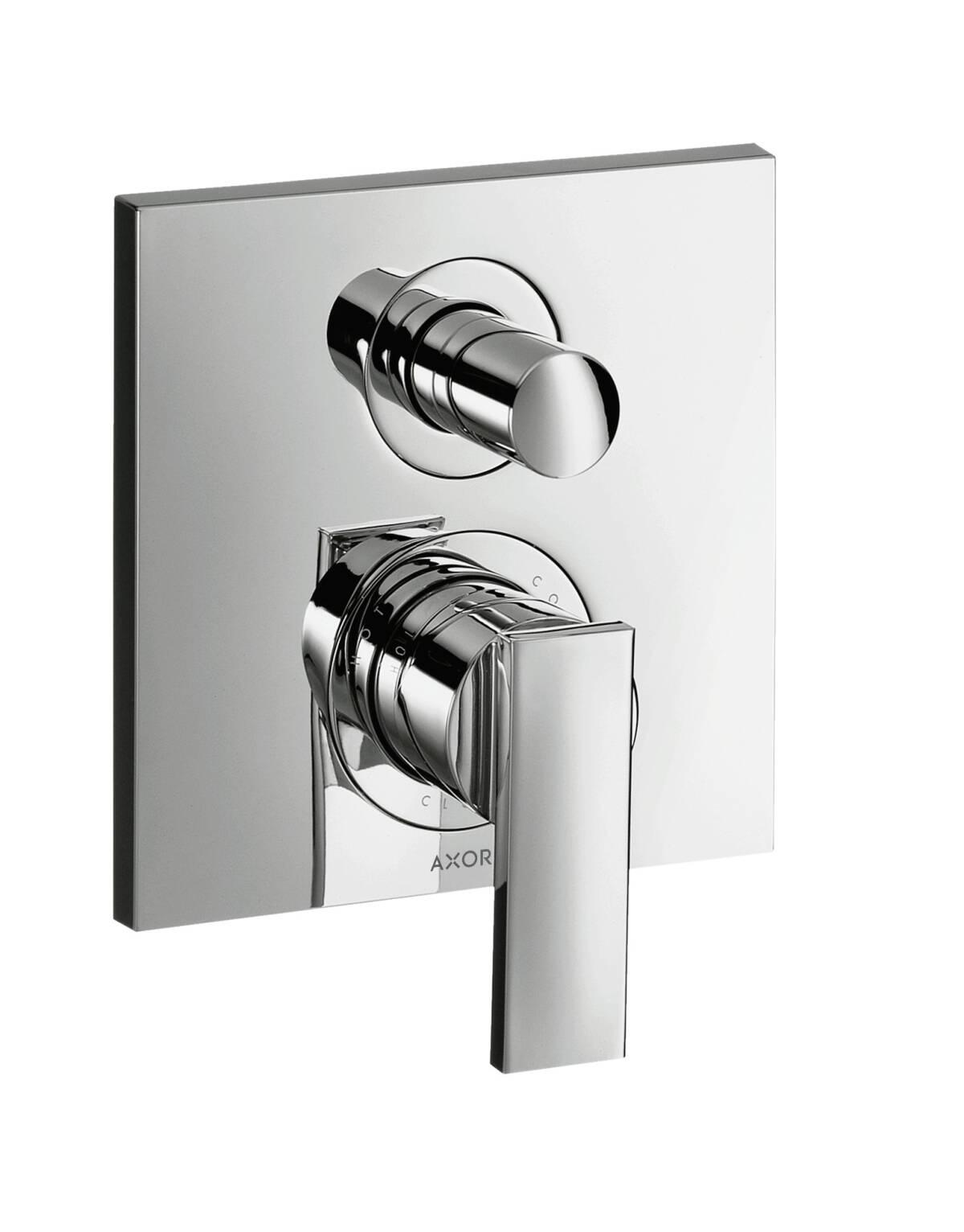 Mezclador monomando de bañera empotrado, latón pulido, 39455930