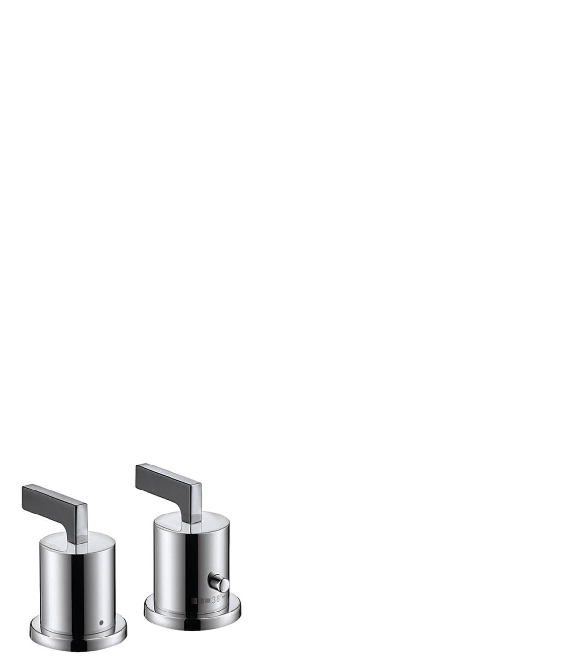 2-hole rim mounted thermostatic bath mixer with lever handles, Brushed Gold Optic, 39482250