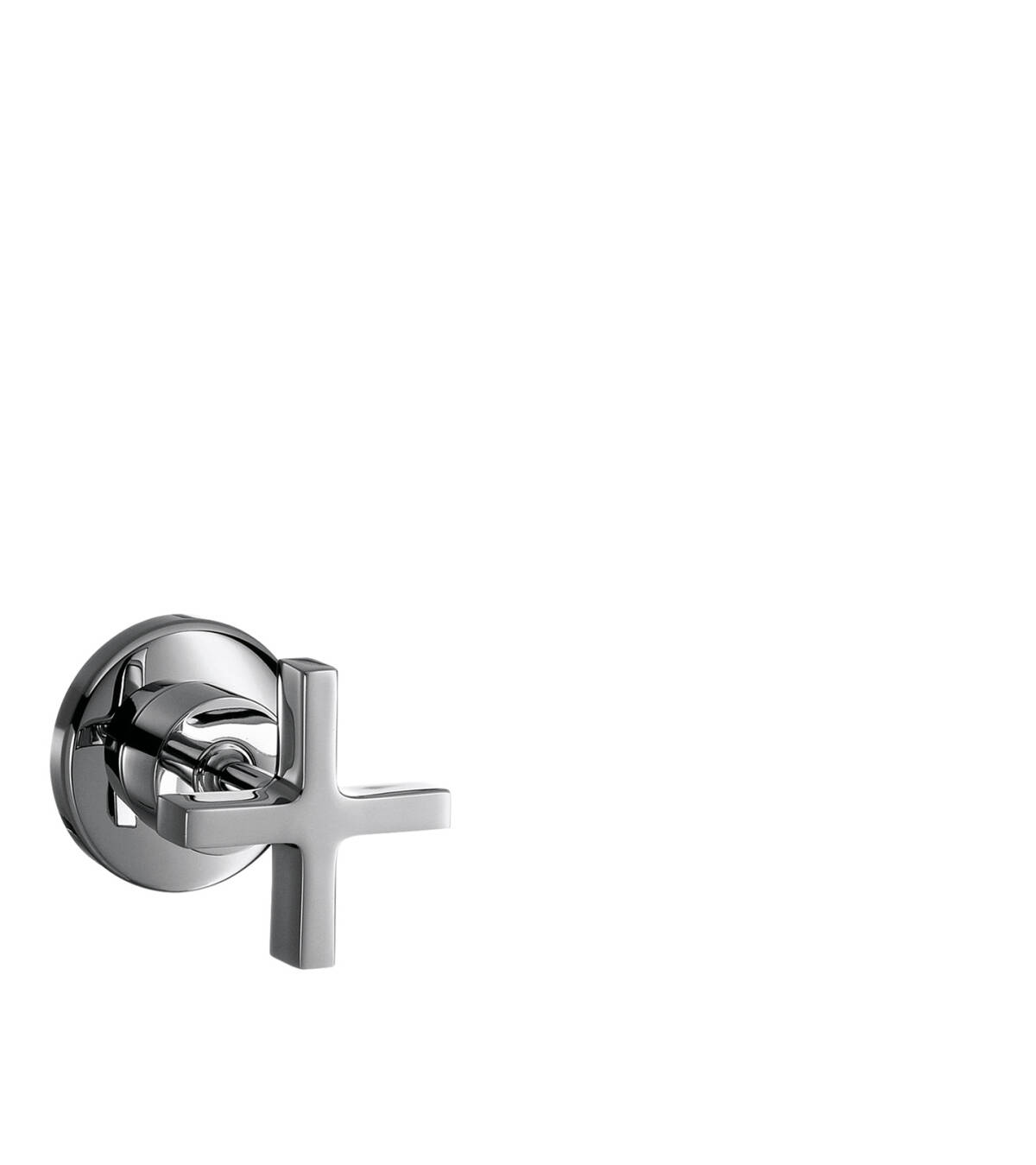 Shut-off valve for concealed installation with cross handle, Polished Nickel, 39965830