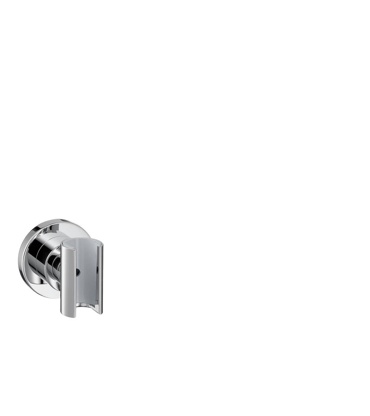 Shower holder round, Brushed Brass, 39525950