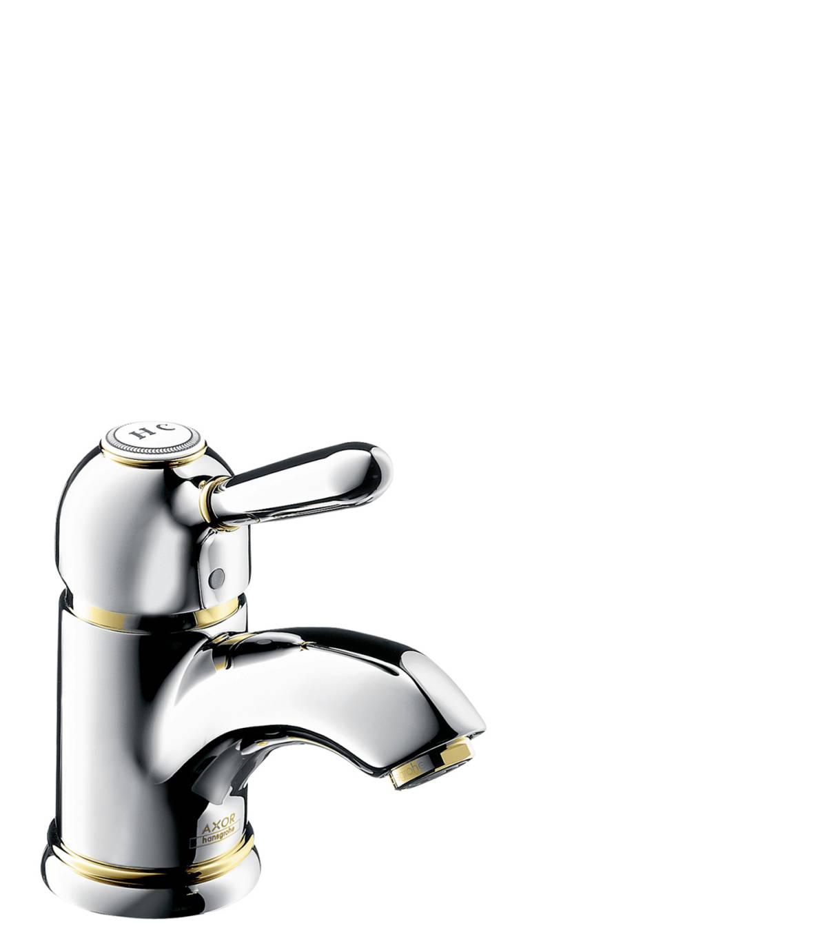 Einhebel-Waschtischmischer 70 mit Zugstangen-Ablaufgarnitur, Chrom, 17010000