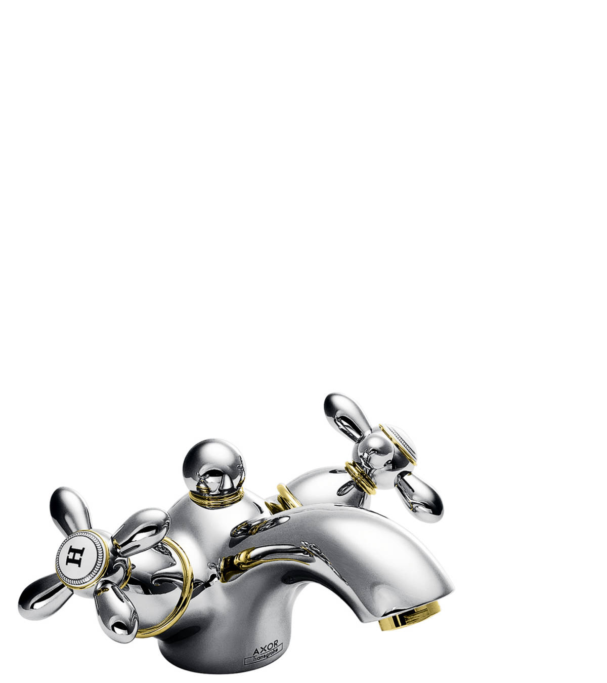 2-handle basin mixer 60, chrome, 17032000
