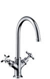 2-handle basin mixer 210 with cross handles and waste set