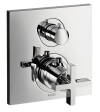 Thermostatic mixer for concealed installation with shut-off/ diverter valve and cross handle