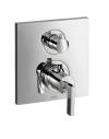 Thermostatic mixer for concealed installation with shut-off/ diverter valve and lever handle