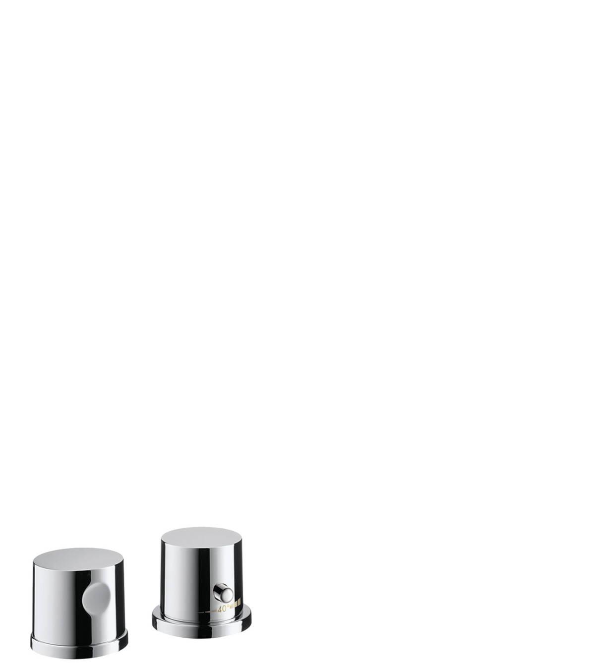 2-hole rim mounted thermostatic bath mixer, Polished Nickel, 38480830
