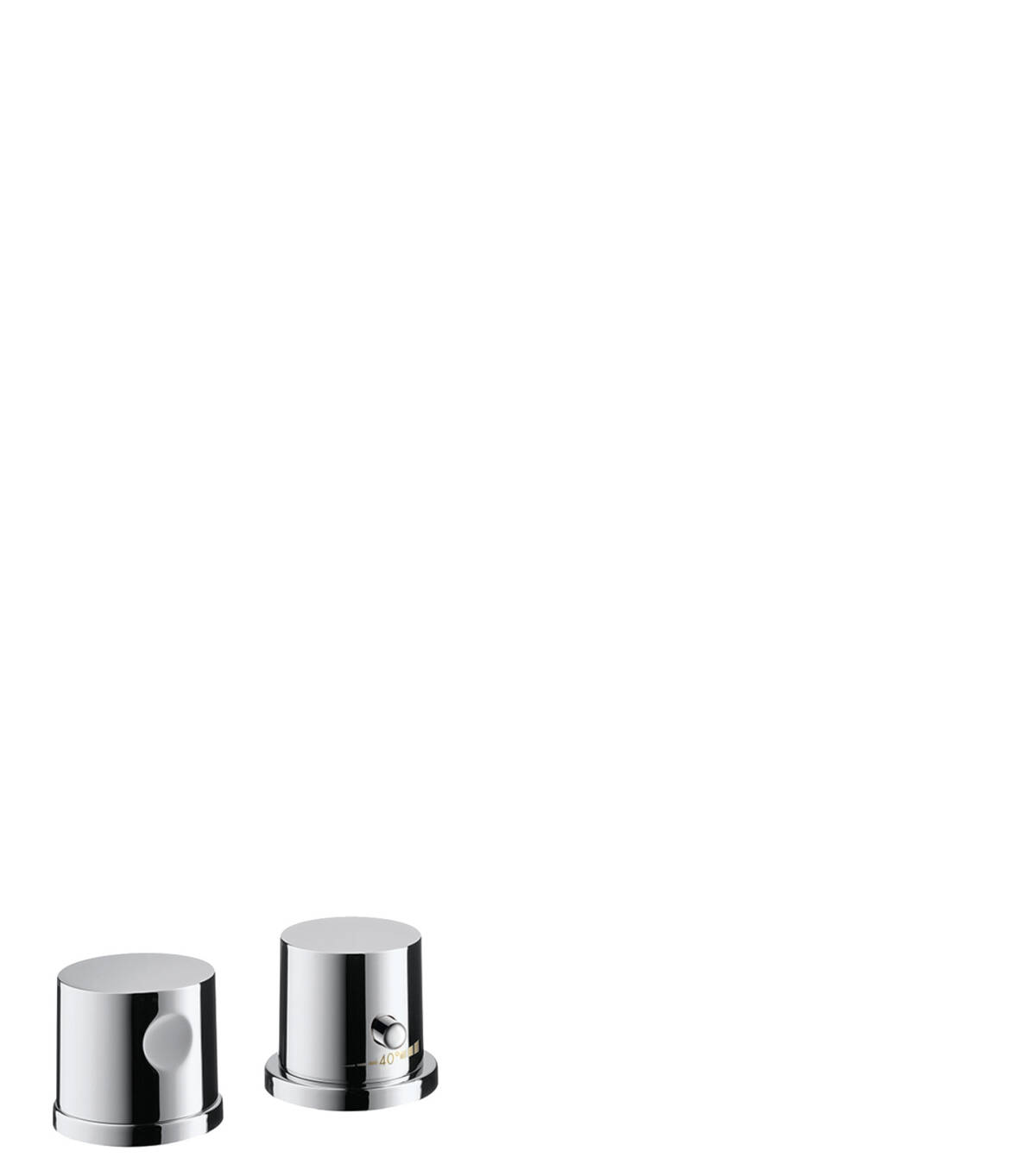 2-hole rim mounted thermostatic bath mixer, Chrome, 38480000