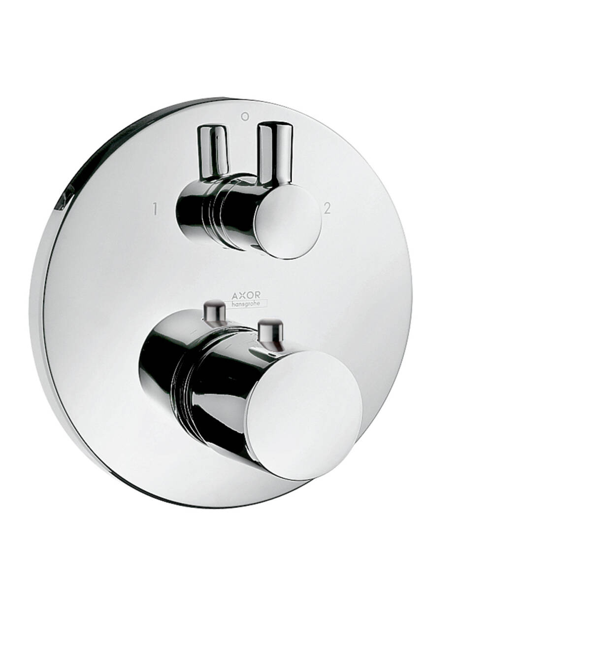Thermostat for concealed installation with shut-off/ diverter valve, Brushed Chrome, 38720260