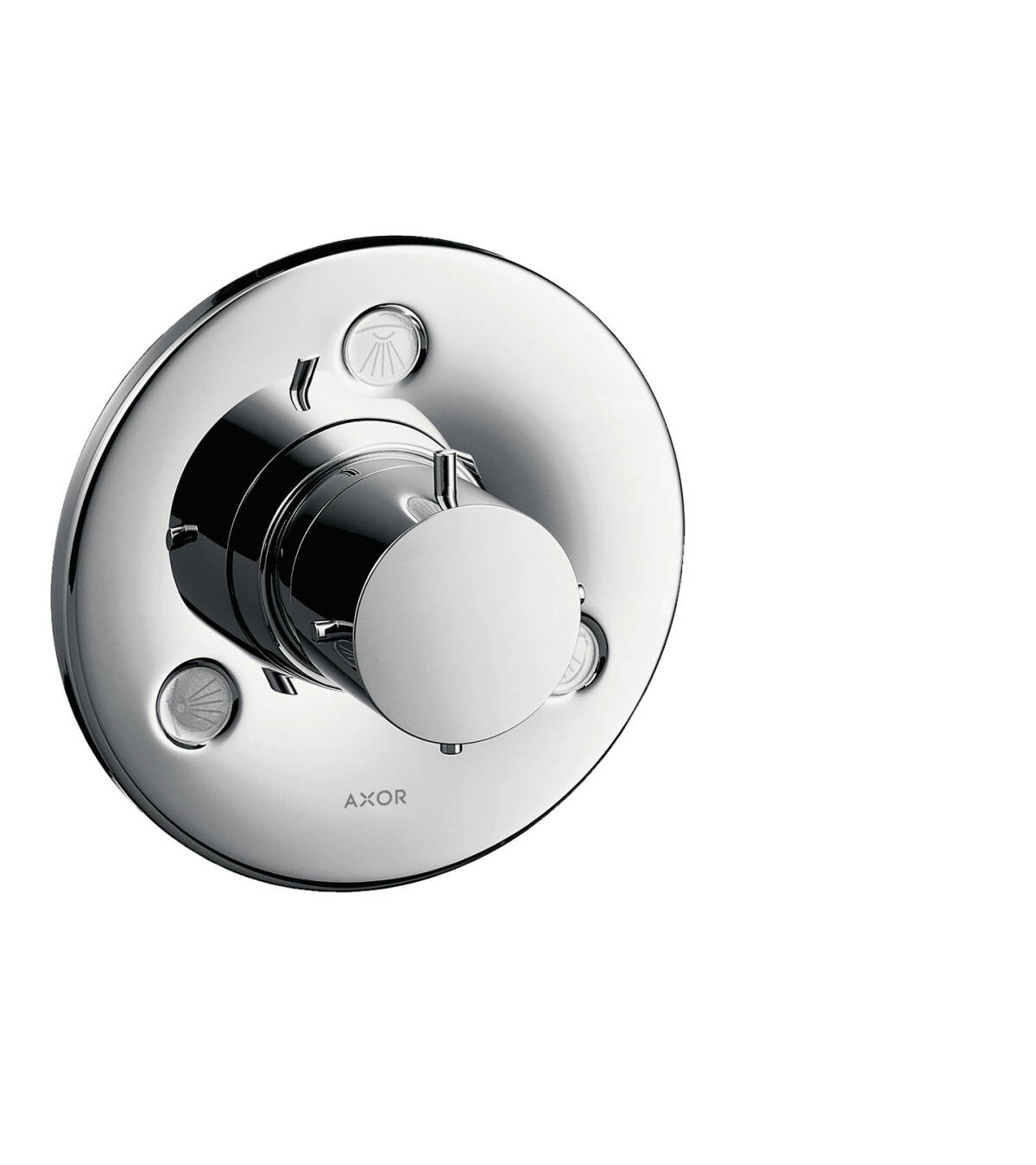 Shut-off/ diverter valve Trio/ Quattro for concealed installation, Chrome, 10930000