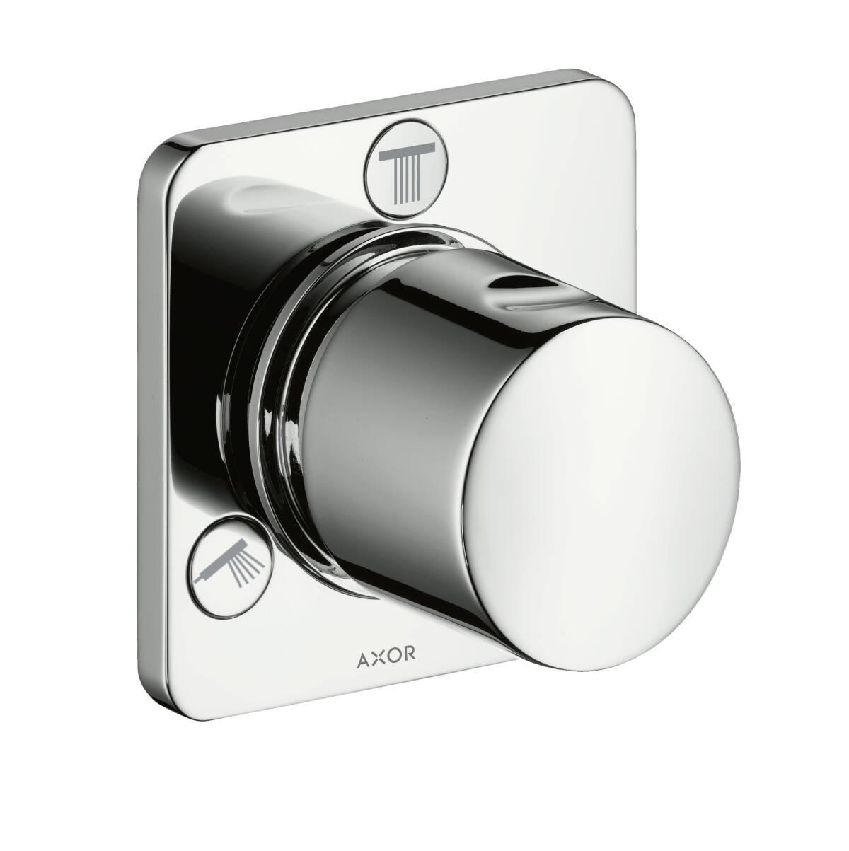 Shut-off/ diverter valve Trio/ Quattro for concealed installation, Chrome, 34920000