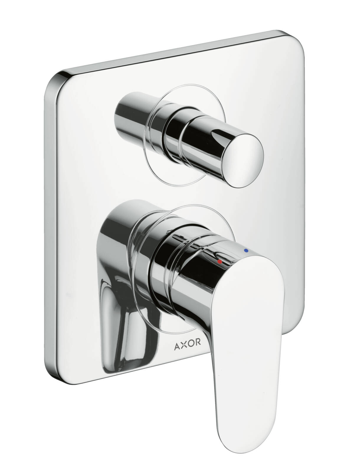 Single lever bath mixer for concealed installation with integrated security combination according to EN1717, Chrome, 34427000