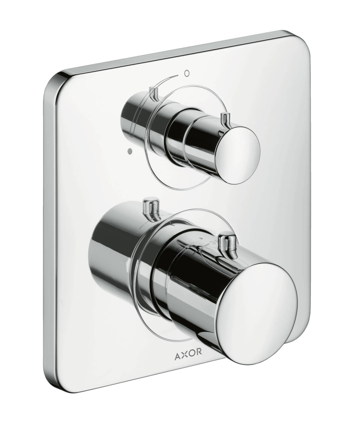 Thermostat for concealed installation with shut-off valve, Chrome, 34705000