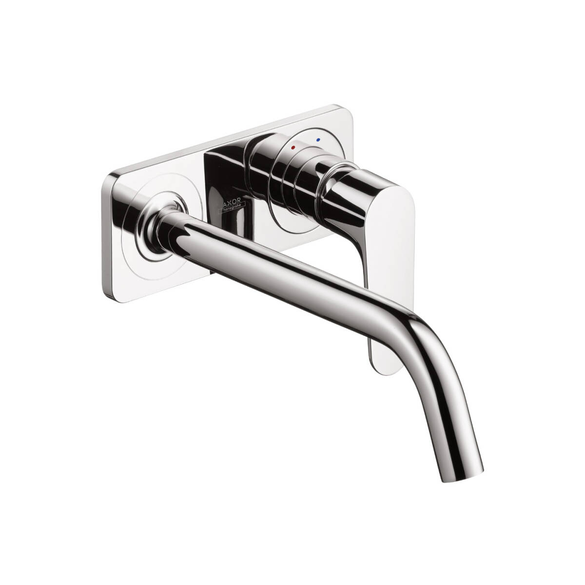 Single lever basin mixer for concealed installation with spout 227 mm and plate wall-mounted, Chrome, 34115000