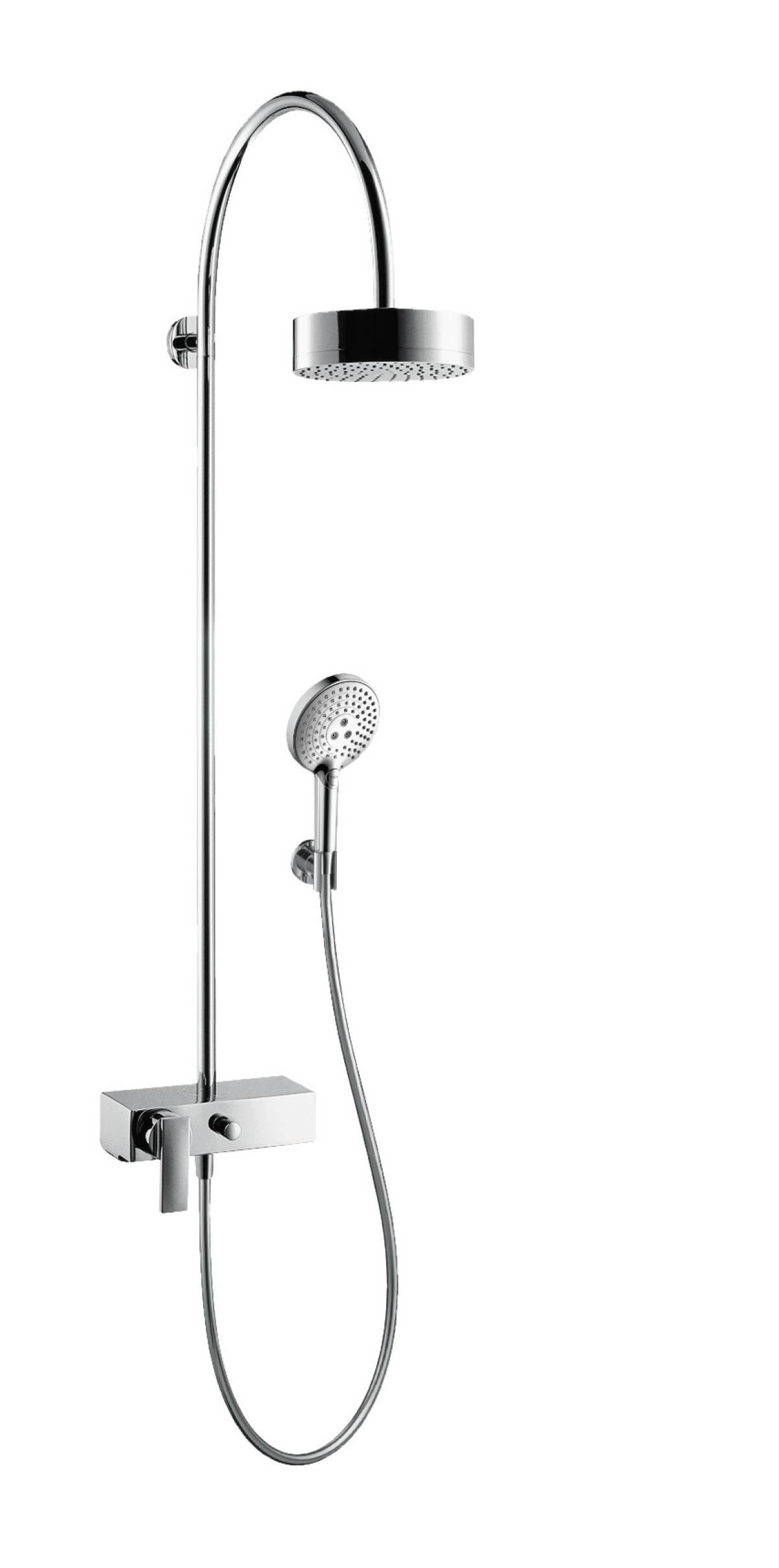 Showerpipe mit Einhebelmischer und Kopfbrause 180 1jet, chrom, 39620000