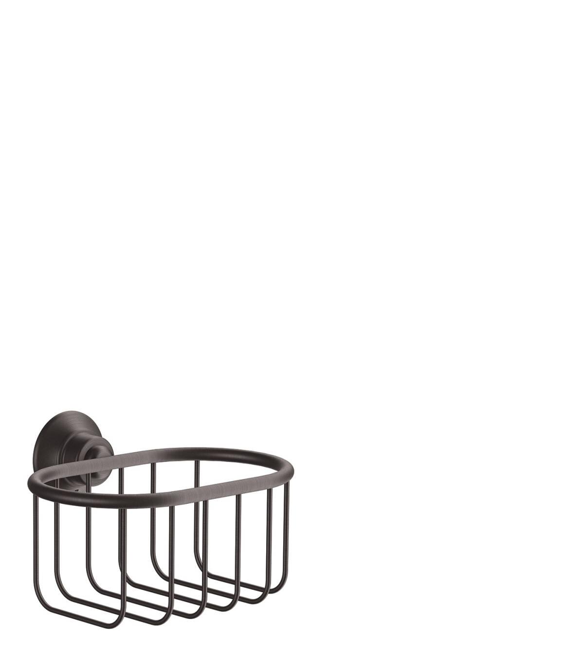 Corner basket 160/101, Brushed Black Chrome, 42065340