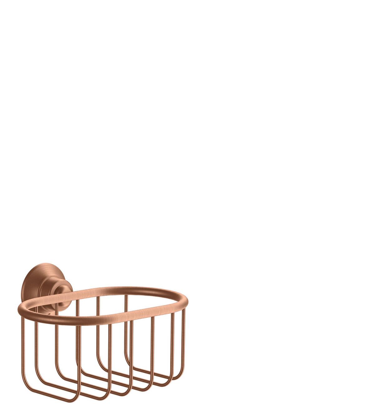 Corner basket 160/101, Brushed Red Gold, 42065310