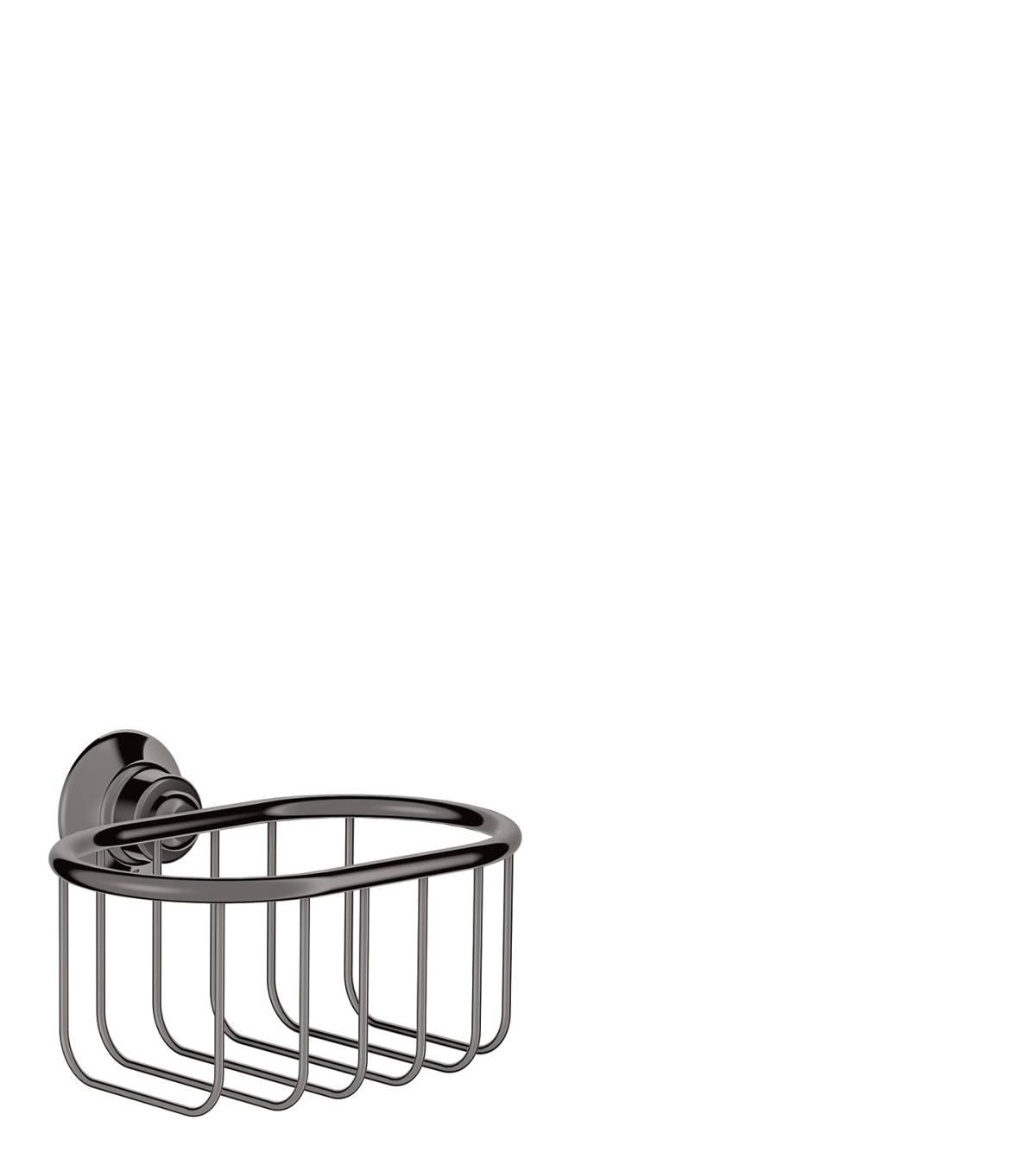 Corner basket 160/101, Polished Black Chrome, 42065330