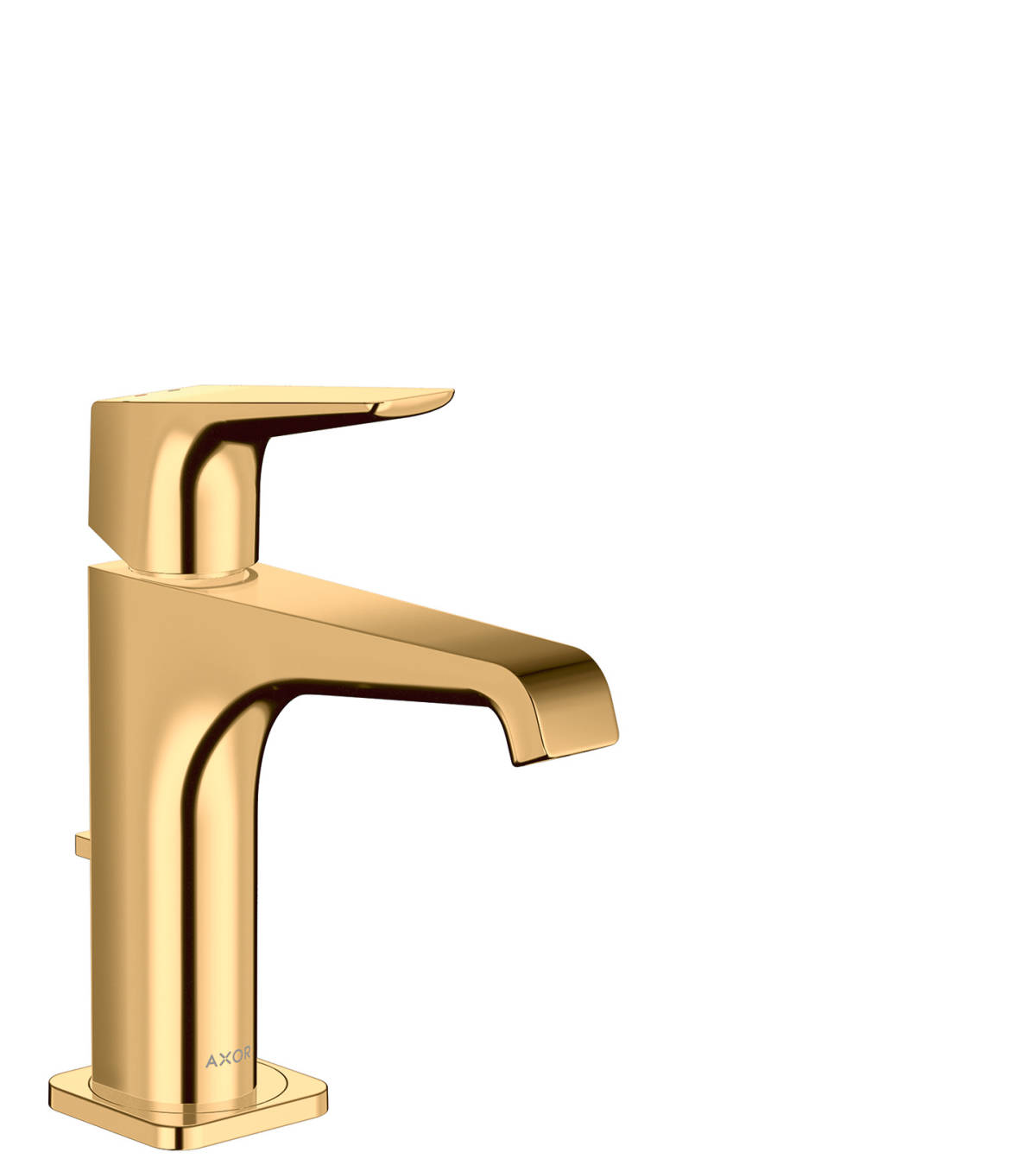 Single lever basin mixer 130 with lever handle and pop-up waste set, Polished Brass, 36110930
