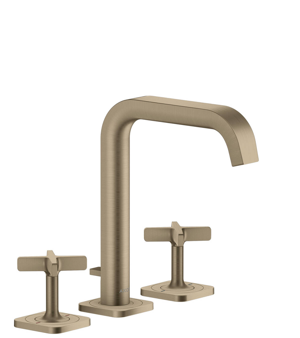 3-hole basin mixer 170 with escutcheons and pop-up waste set, Brushed Nickel, 36108820