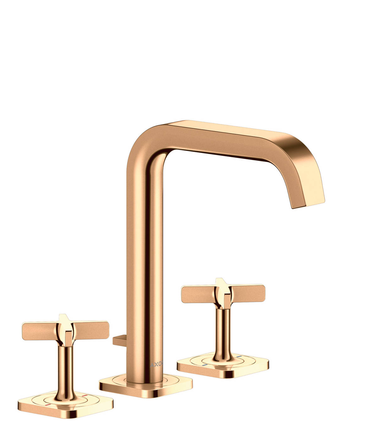3-hole basin mixer 170 with escutcheons and pop-up waste set, Polished Bronze, 36108130