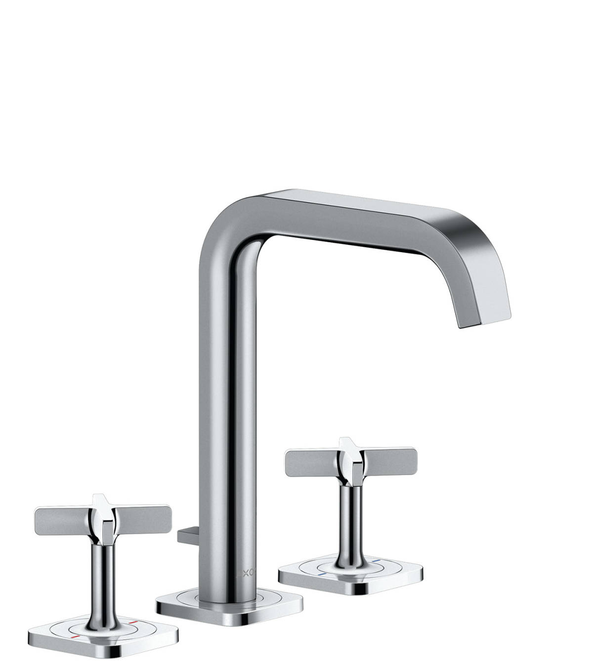 3-hole basin mixer 170 with escutcheons and pop-up waste set, Polished Chrome, 36108020