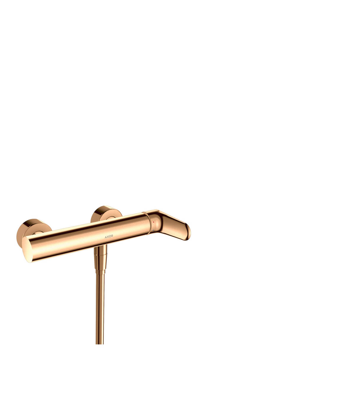 Single lever shower mixer for exposed installation, Polished Bronze, 34620130