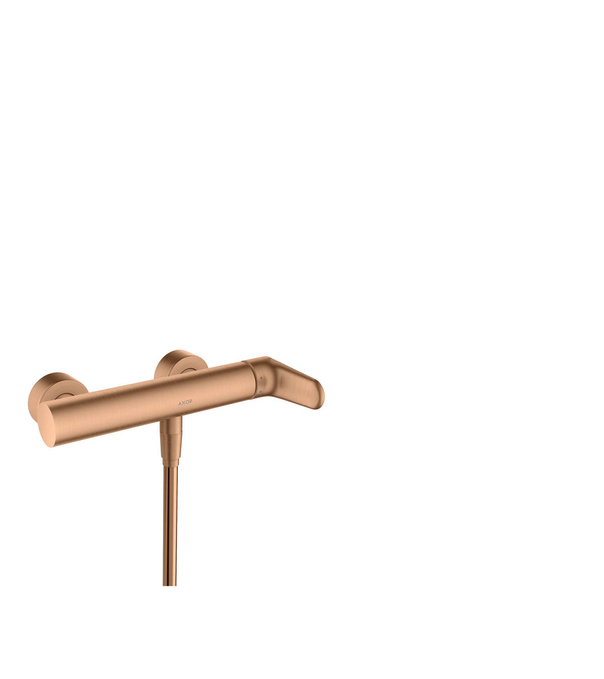 Single lever shower mixer for exposed installation, Brushed Bronze, 34620140