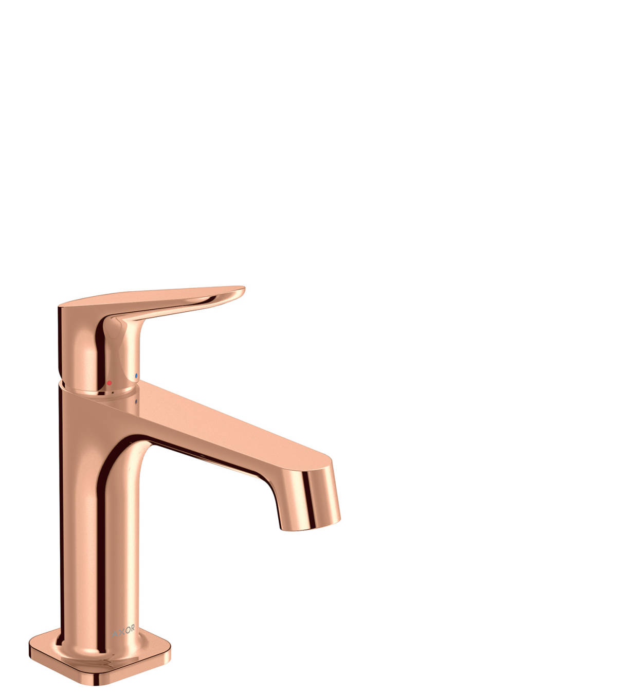 Single lever basin mixer 100 with waste set, Polished Red Gold, 34017300