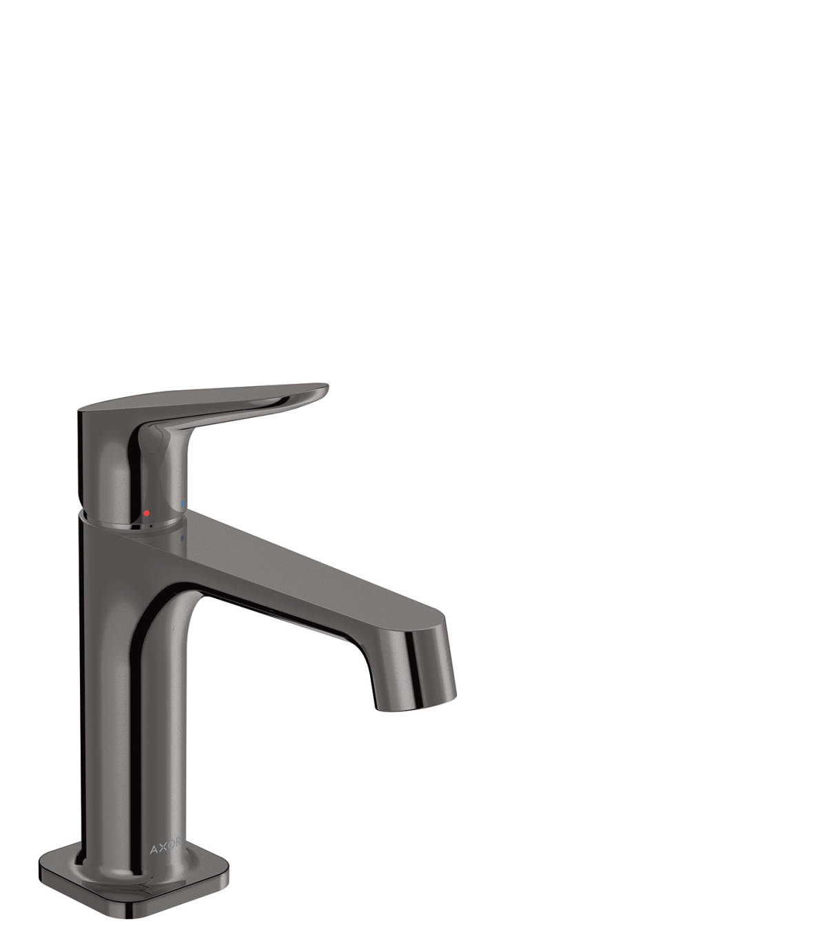 Single lever basin mixer 100 with waste set, Polished Black Chrome, 34017330