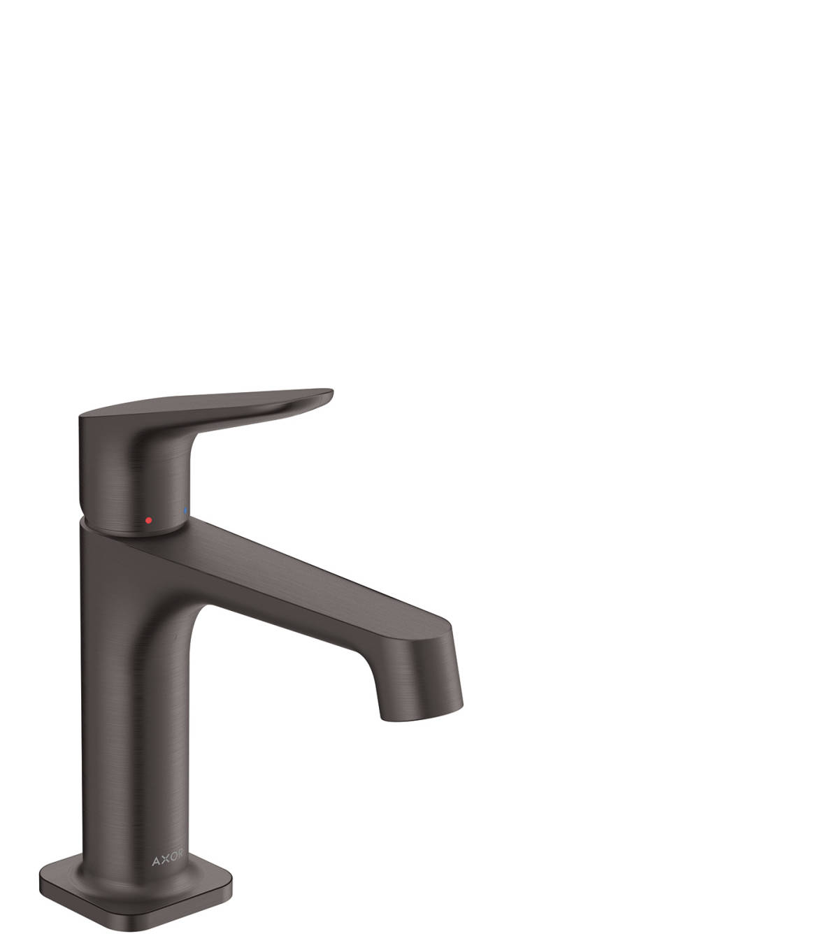 Single lever basin mixer 100 with waste set, Brushed Black Chrome, 34017340