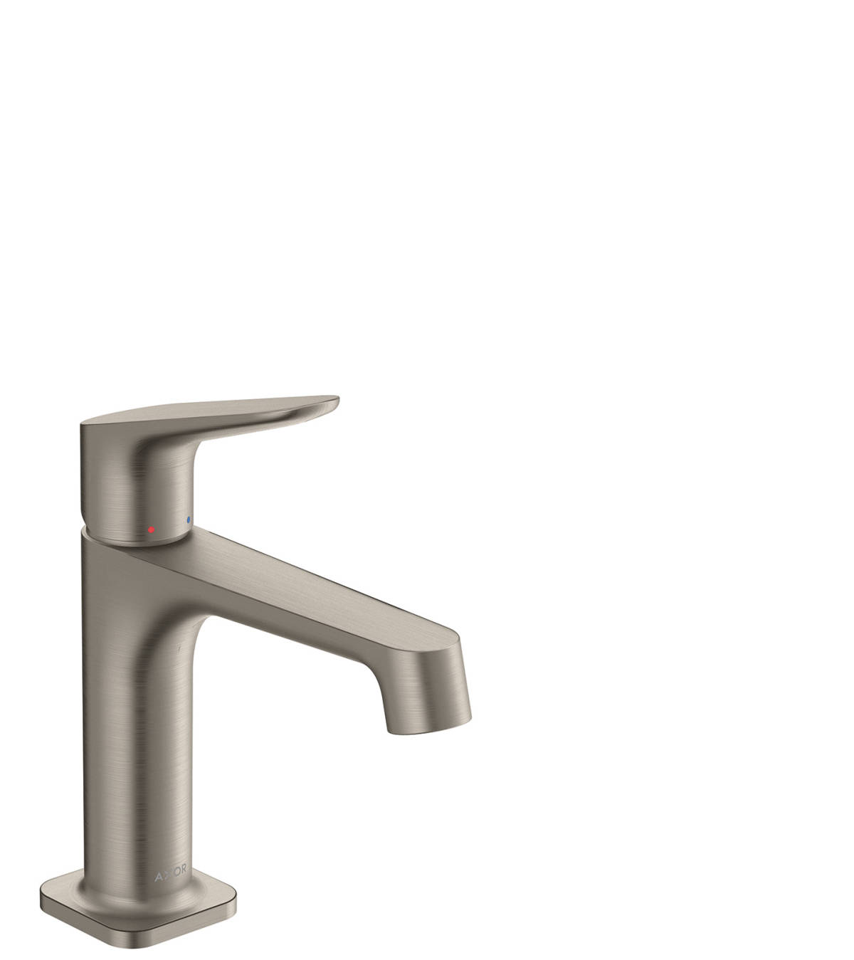 Single lever basin mixer 100 with waste set, Stainless Steel Optic, 34017800