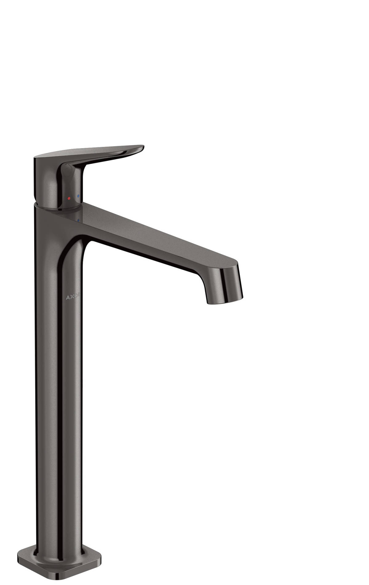 Single lever basin mixer 250 without pull-rod for wash bowls, Polished Black Chrome, 34127330