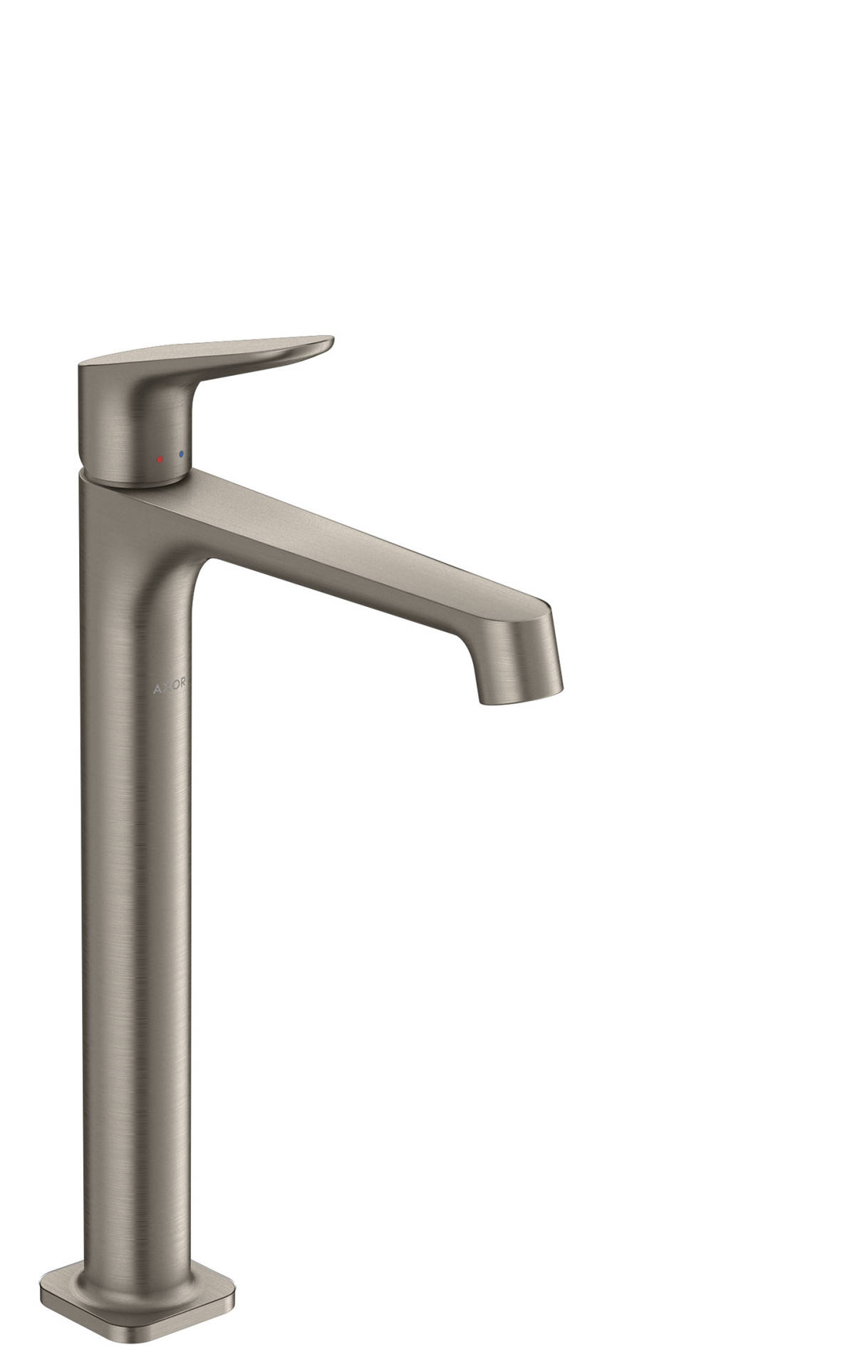 Single lever basin mixer 250 for washbowls with waste set, Stainless Steel Optic, 34127800