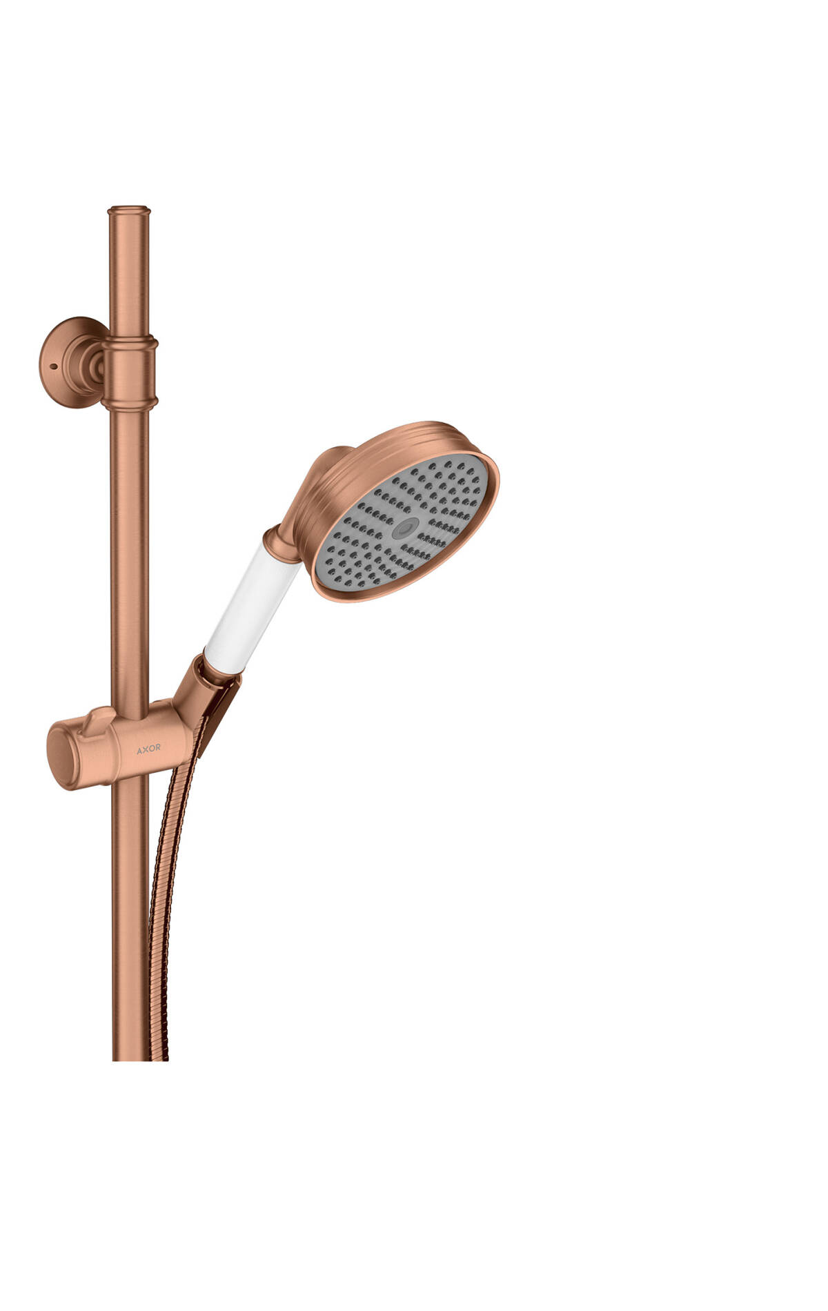 Shower set 0.90 m with hand shower 100 1jet, Brushed Red Gold, 27982310