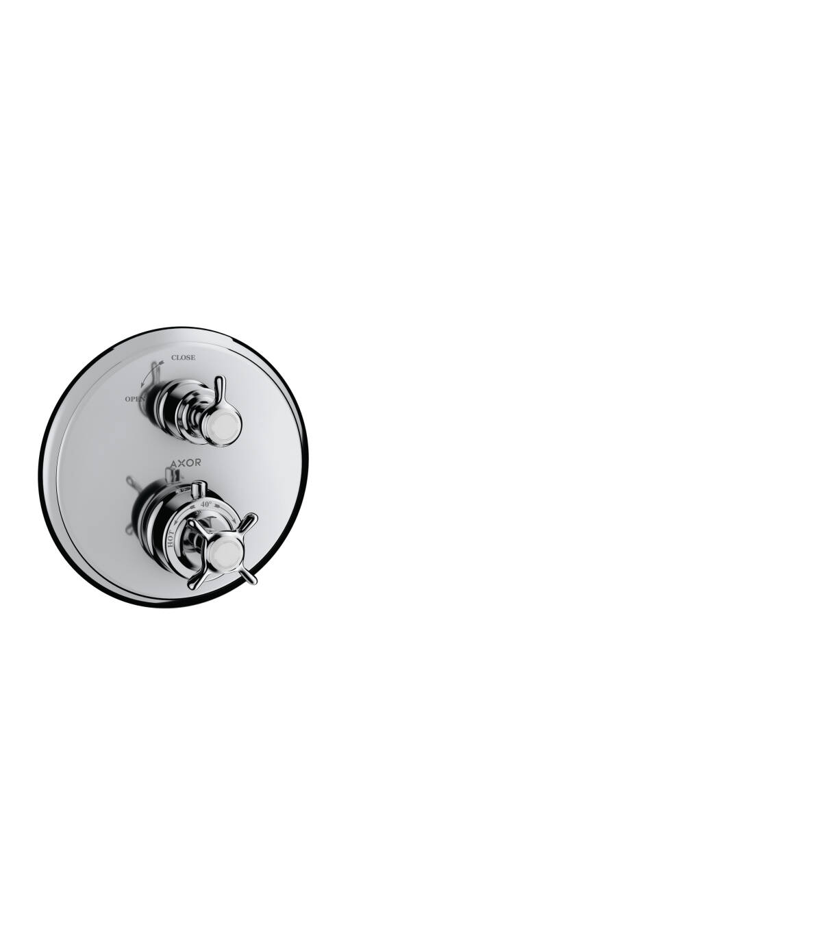 Thermostatic mixer for concealed installation with shut-off valve, Polished Chrome, 16800020