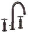 3-hole basin mixer 180 with cross handles and pop-up waste set