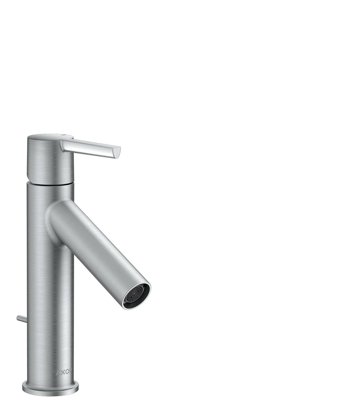 Single lever basin mixer 100 with lever handle and pop-up waste set, Brushed Chrome, 10001260