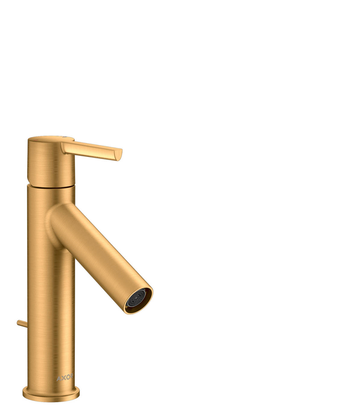 Single lever basin mixer 100 with lever handle and pop-up waste set, Brushed Gold Optic, 10001250