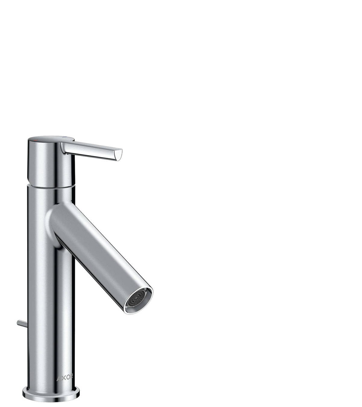 Single lever basin mixer 100 with lever handle and pop-up waste set, Polished Chrome, 10001020