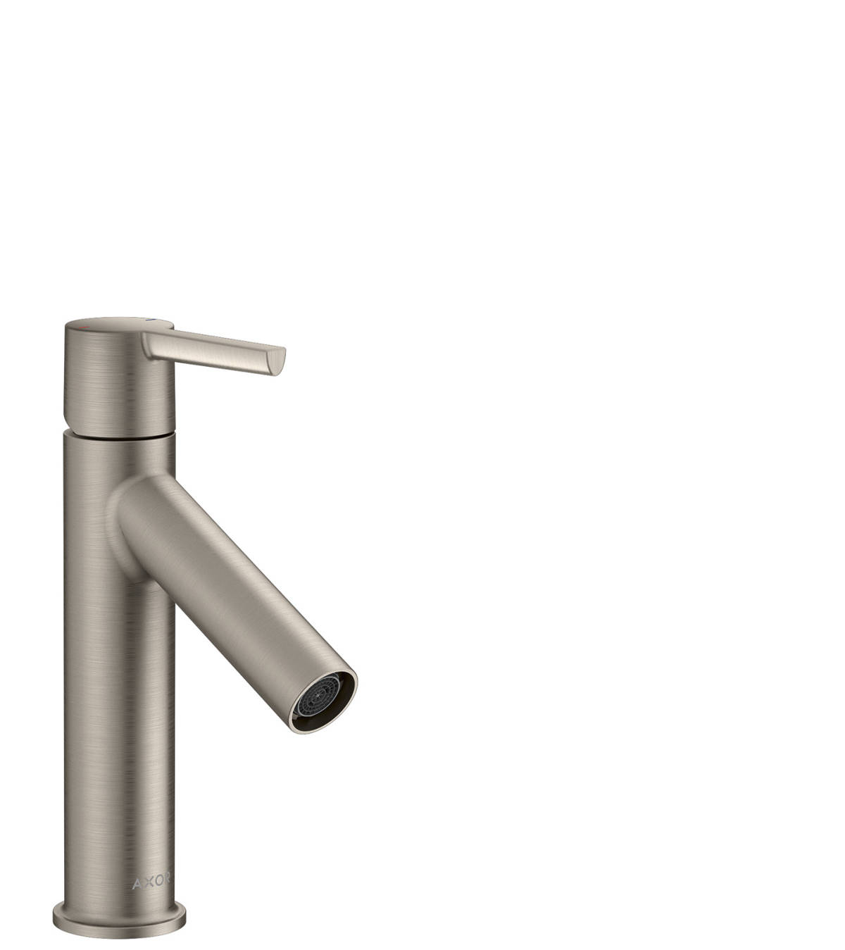 Single lever basin mixer 100 with lever handle and waste set, Stainless Steel Optic, 10003800