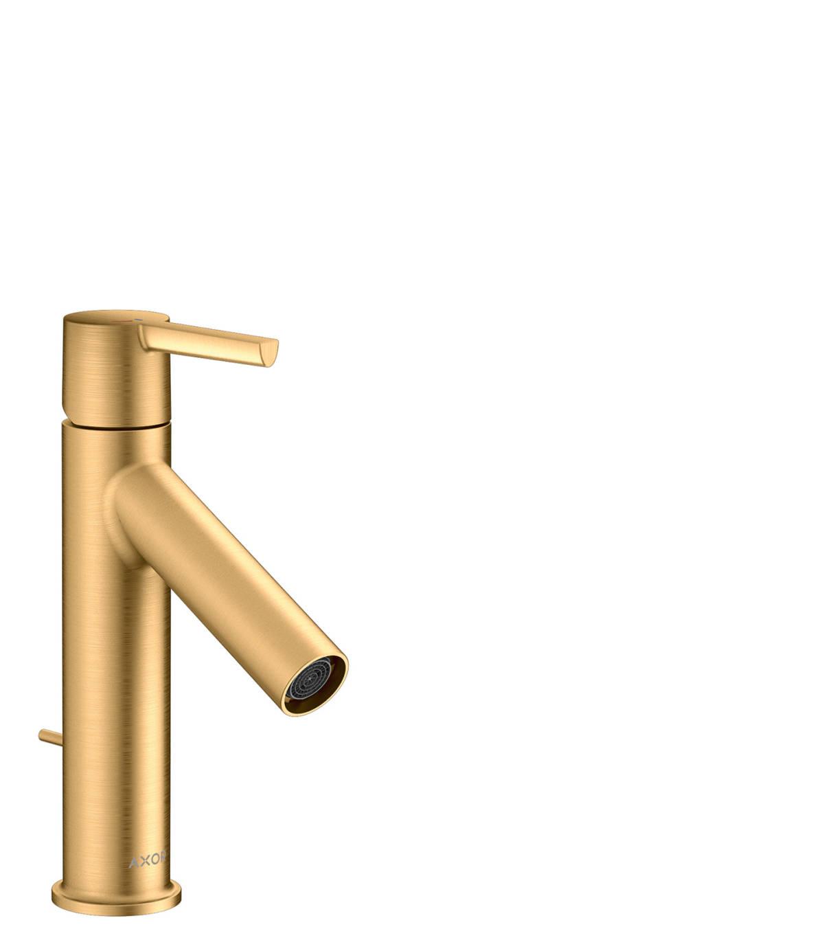 Mezclador monomando de lavabo 100 Coolstart con manecilla y vaciador automático, latón cepillado, 10007950