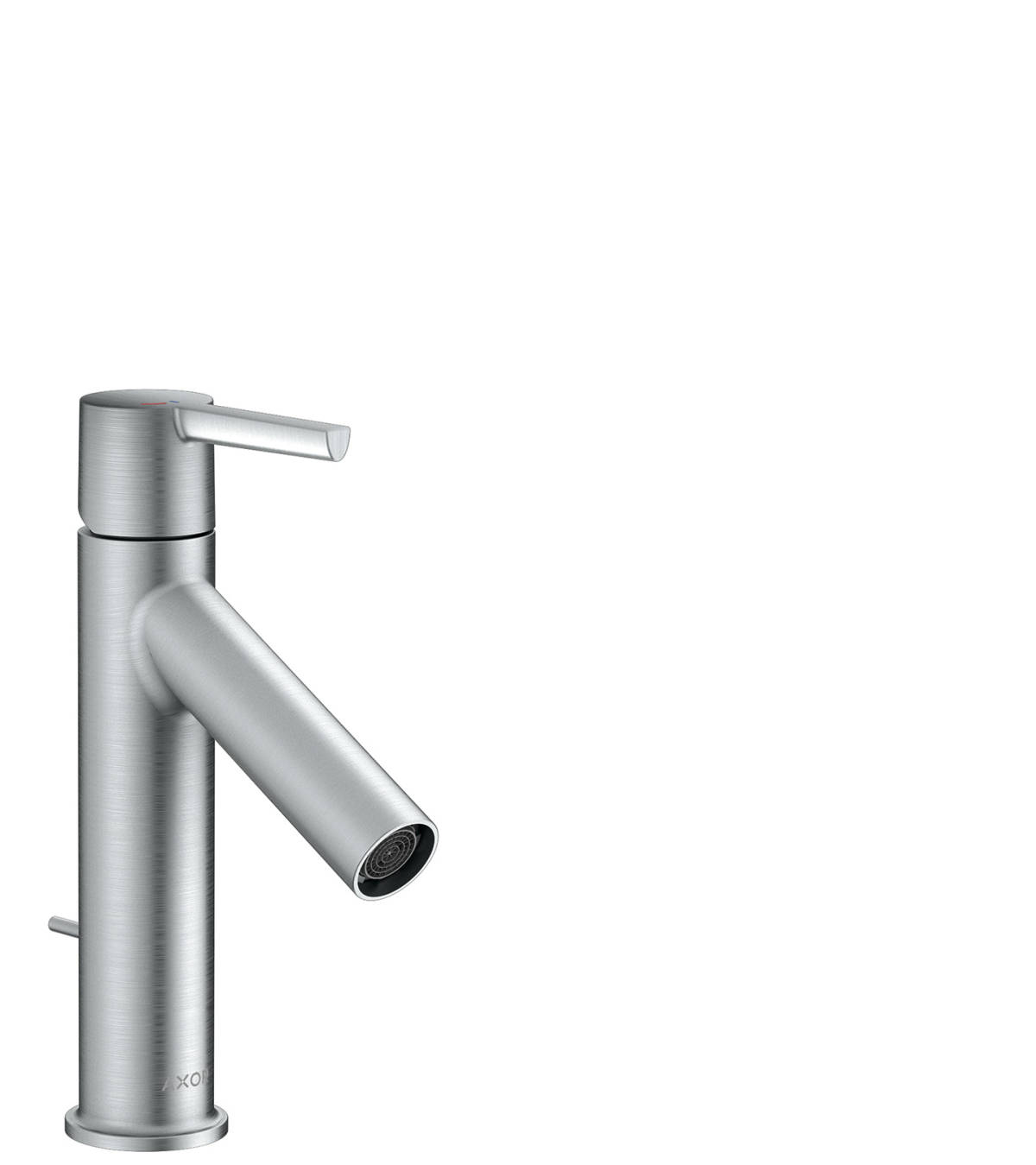 Single lever basin mixer 100 CoolStart with lever handle and pop-up waste set, Brushed Chrome, 10007260