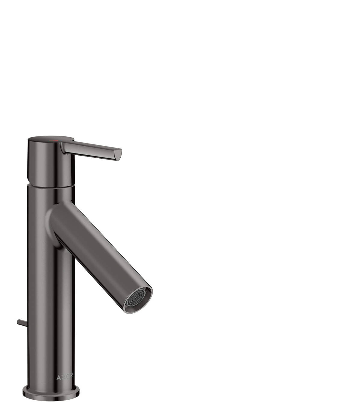 Single lever basin mixer 100 CoolStart with lever handle and pop-up waste set, Polished Black Chrome, 10007330