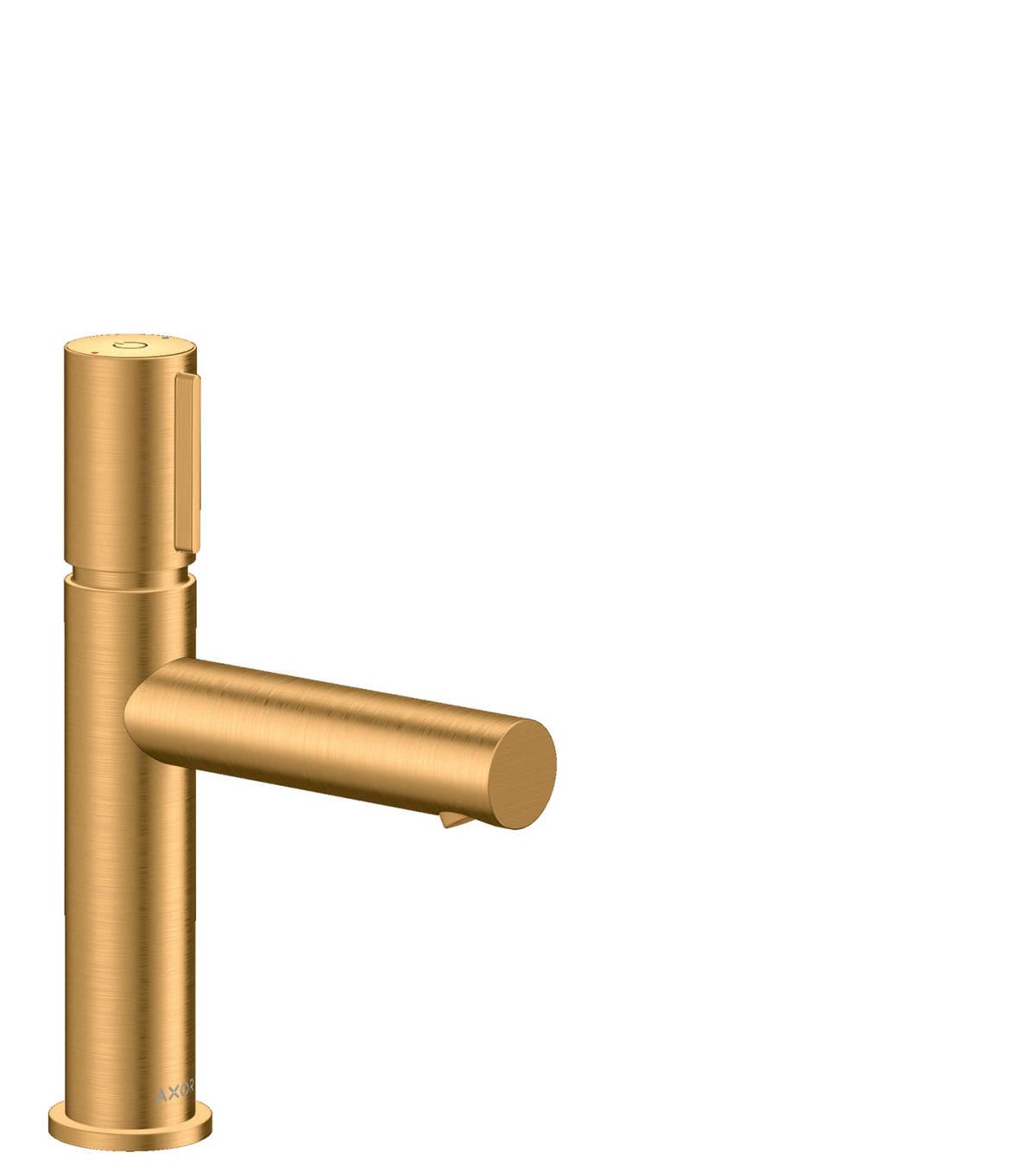 Basin mixer Select 110 with waste set, Brushed Gold Optic, 45012250