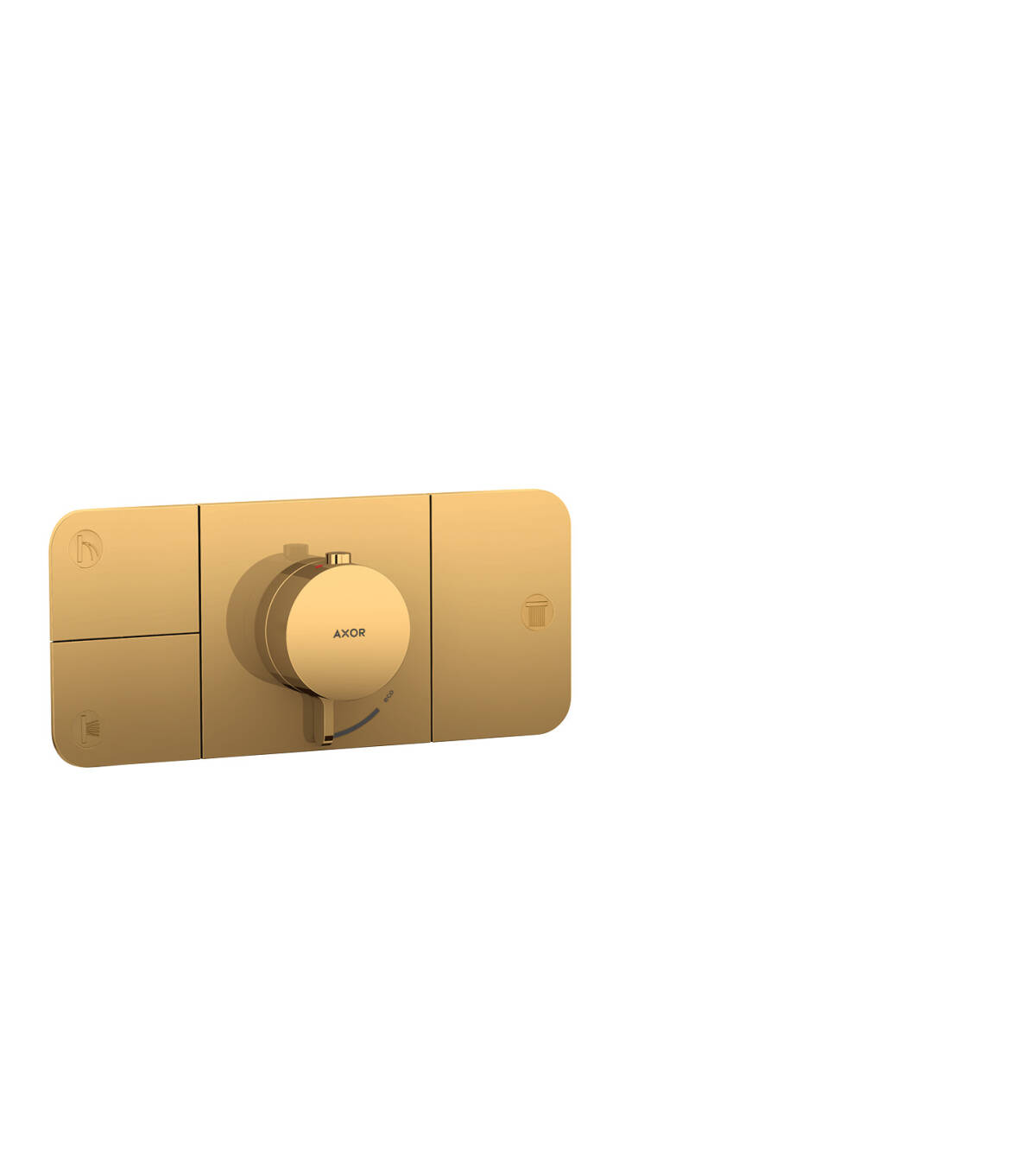 Thermostatic module for concealed installation for 3 functions, Polished Gold Optic, 45713990