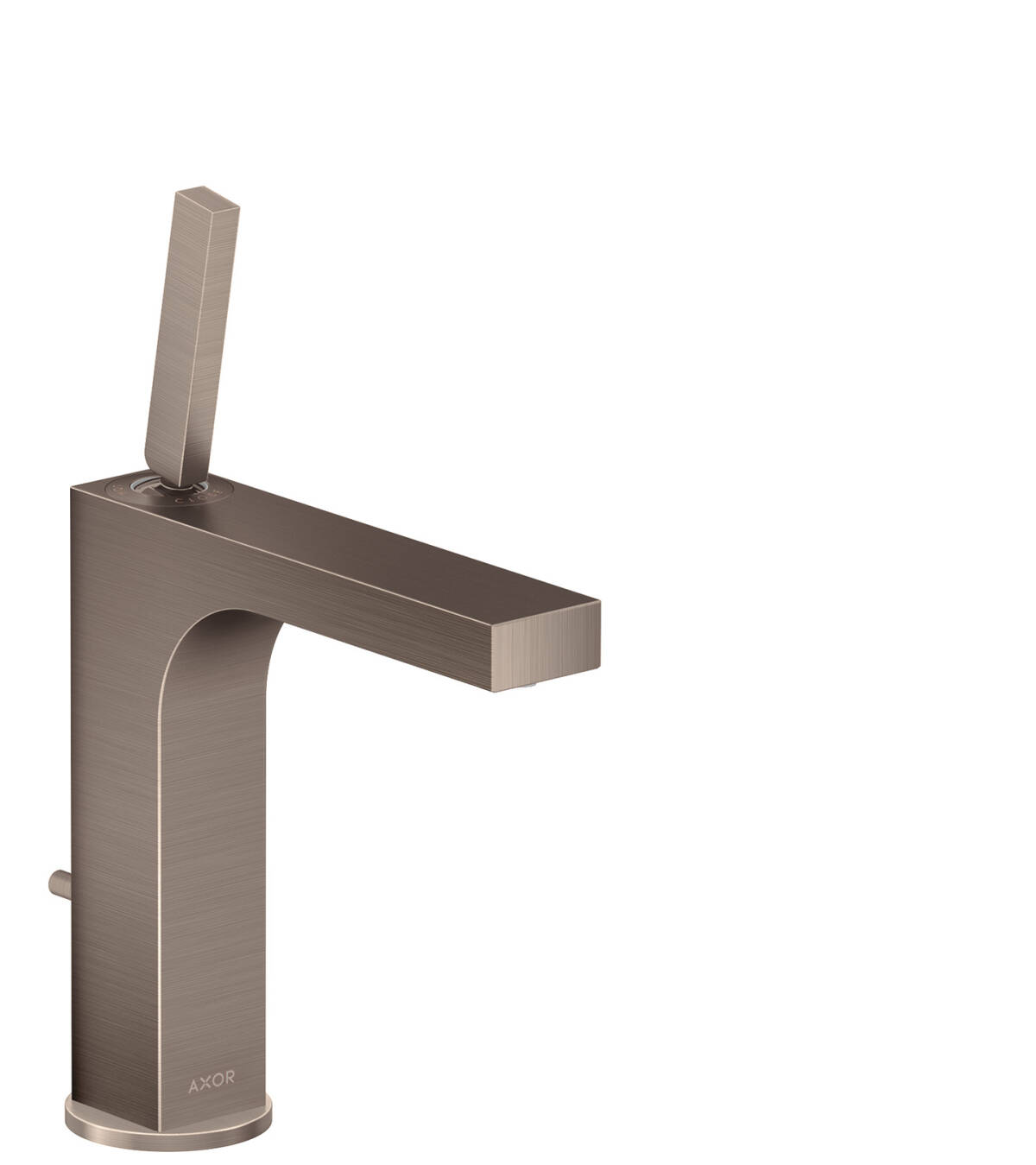 Single lever basin mixer 160 with pin handle and pop-up waste set, Brushed Nickel, 39031820