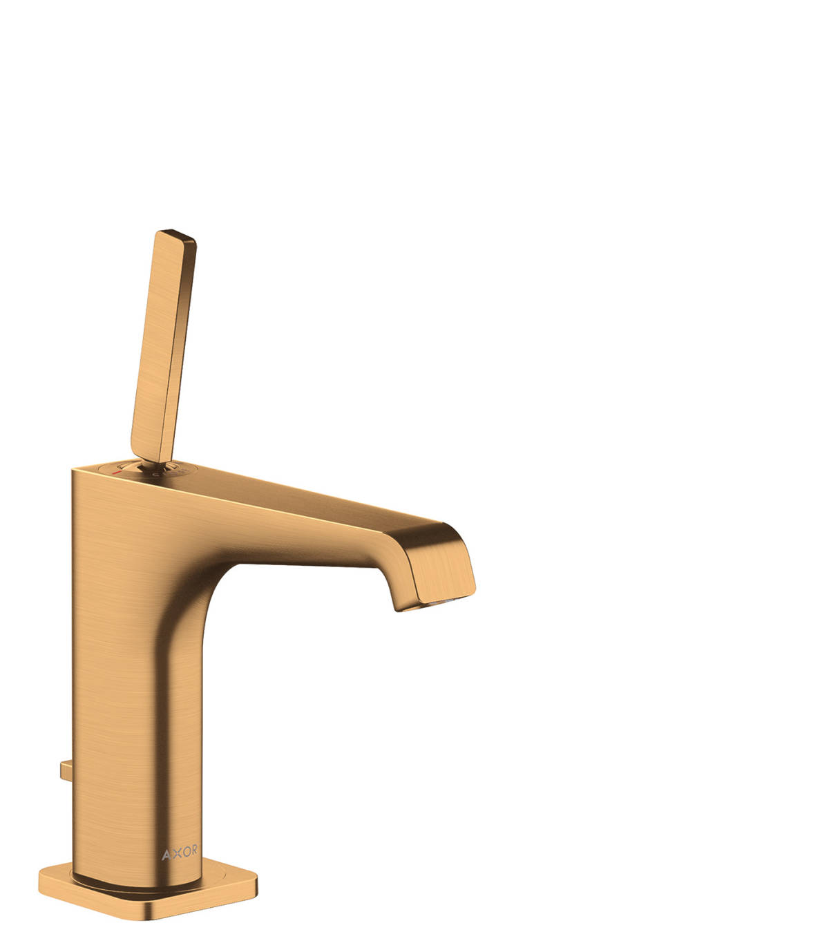 Single lever basin mixer 130 with pop-up waste set, Brushed Gold Optic, 36100250